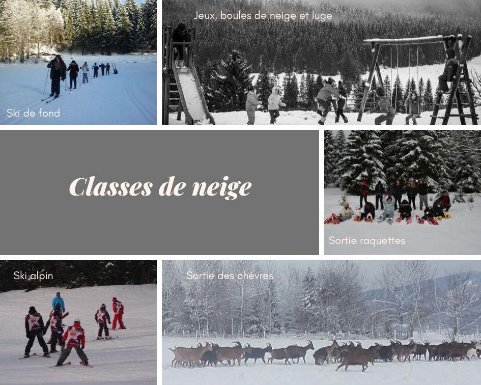 Les classes de neige