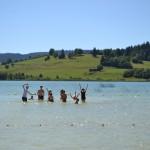 Baignade au lac de Remoray