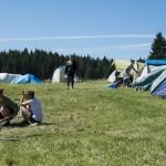 Campement et préparation du repas