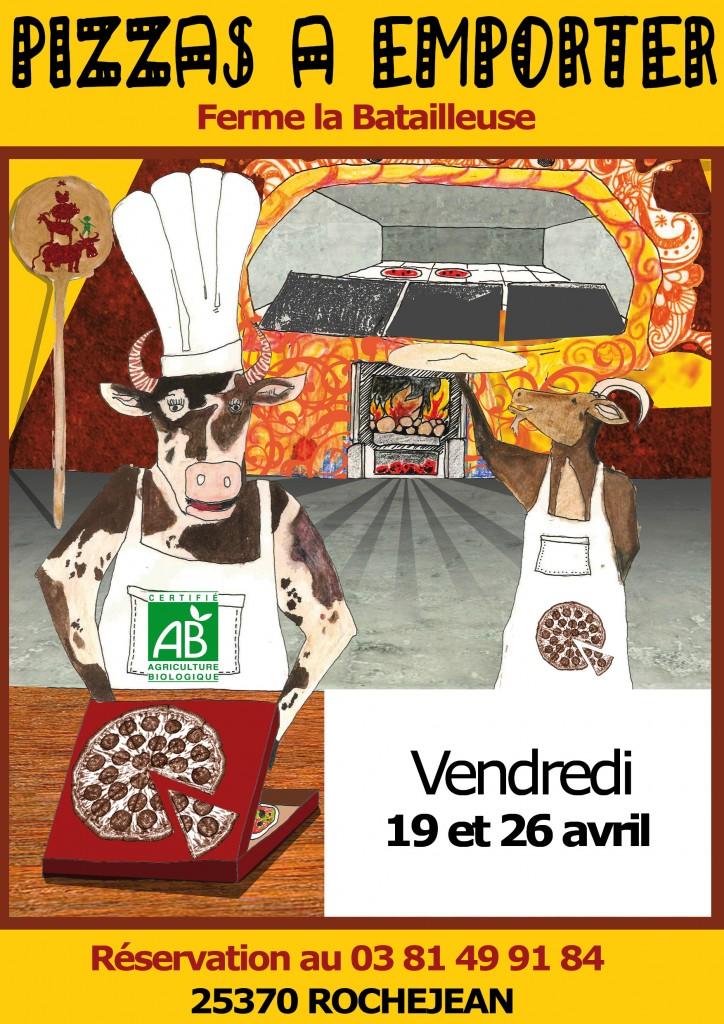 Affiche pizzas avec dates avril 2019